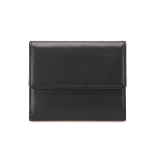 MEN SNAP WALLET - BLACK