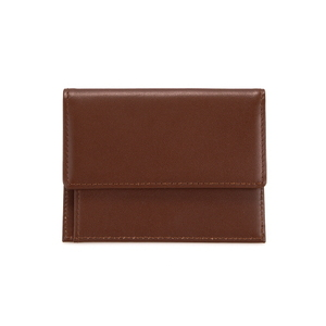 MEN SNAP CARD WALLET - BROWN