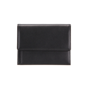 MEN SNAP CARD WALLET - BLACK