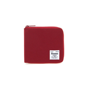 C&S ZIPPER WALLET - SMOKE RED