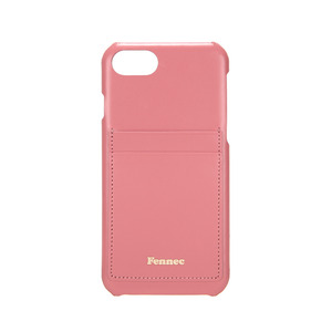 LEATHER IPHONE 7/8 CARD CASE - ROSE PINK