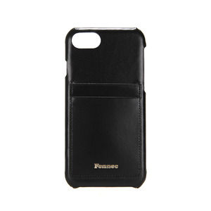 LEATHER IPHONE 7/8 CARD CASE - BLACK
