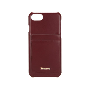 LEATHER IPHONE 7/8 CARD CASE - WINE