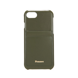 LEATHER IPHONE 7/8 CARD CASE - KHAKI