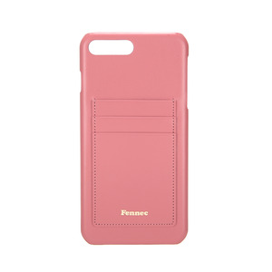 LEATHER IPHONE 7+/8+ CARD CASE - ROSE PINK