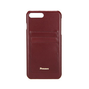 LEATHER IPHONE 7+/8+ CARD CASE - WINE