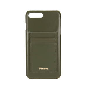 LEATHER IPHONE 7+/8+ CARD CASE - KHAKI