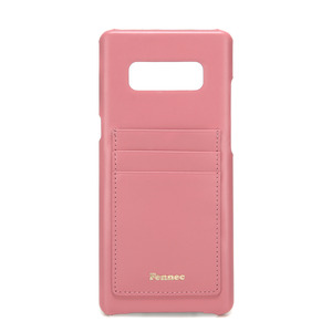 [DISCONTINUE]LEATHER NOTE 8 CARD CASE - ROSE PINK