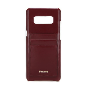 [DISCONTINUE] LEATHER NOTE 8 CARD CASE - WINE