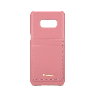 [DISCONTINUE] LEATHER GALAXY S8 CARD CASE - ROSE PINK