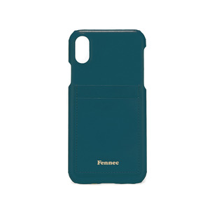 LEATHER IPHONE X CARD CASE - SEAGREEN