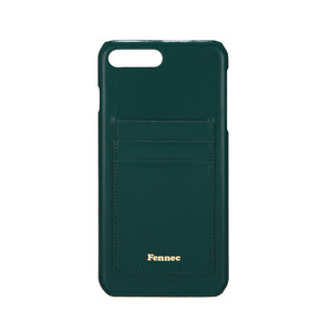 LEATHER IPHONE 7+/8+ CARD CASE - MOSS GREEN
