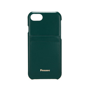LEATHER IPHONE 7/8 CARD CASE - MOSS GREEN