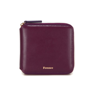 ZIPPER WALLET - PLUM PURPLE