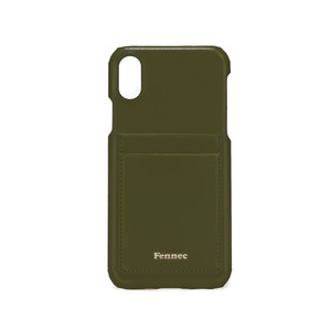 LEATHER IPHONE X CARD CASE - KHAKI