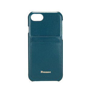 LEATHER IPHONE 7/8 CARD CASE - SEAGREEN