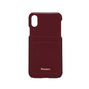 LEATHER IPHONE X CARD CASE - WINE