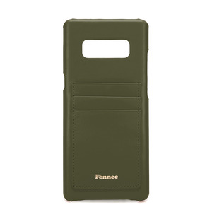 [DISCONTINUE] LEATHER NOTE 8 CARD CASE - KHAKI