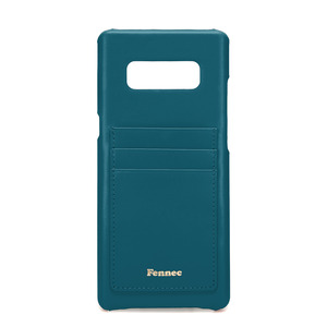 [DISCONTINUE] LEATHER NOTE 8 CARD CASE - SEAGREEN