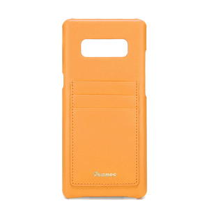 [DISCONTINUE] LEATHER NOTE 8 CARD CASE - MANDARIN