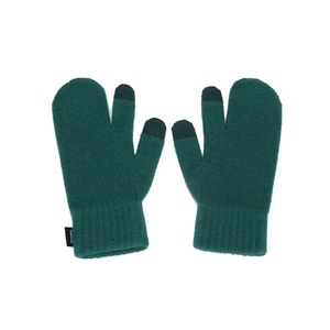 KNIT TIMI GLOVES - GREEN