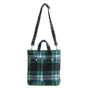 [DISCONTINUE] C&S CHECK POCKET BAG - GREEN