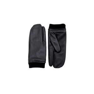 LEATHER TIMI GLOVES - BLACK