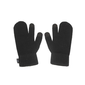 KNIT TIMI GLOVES - BLACK