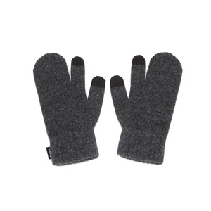 KNIT TIMI GLOVES - CHARCOL