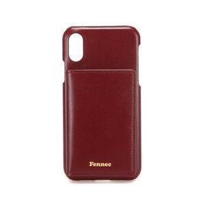 LEATHER iPHONE X/XS POCKET CASE - WINE