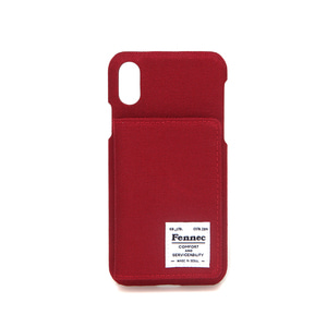 C&S iPHONE X/XS POCKET CASE - SMOKE RED