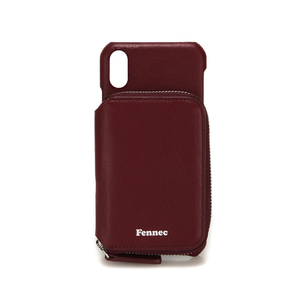 LEATHER iPHONE X/XS MINI POCKET CASE - WINE