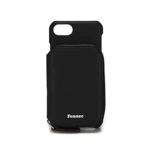 LEATHER iPHONE 7/8 MINI POCKET CASE - BLACK