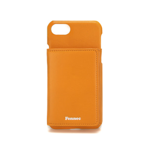 LEATHER iPHONE 7/8 TRIPLE POCKET CASE - MANDARIN