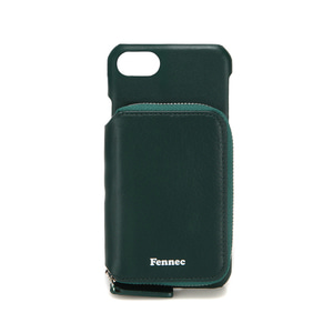 LEATHER iPHONE 7/8 MINI POCKET CASE - MOSS GREEN