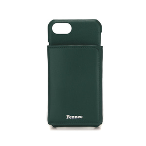 LEATHER iPHONE 7/8 TRIPLE POCKET CASE - MOSS GREEN