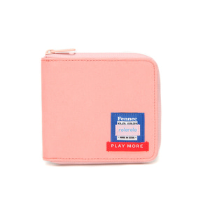 FENNEC X ROLAROLA ZIPPER WALLET - PEACH