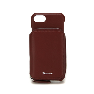 LEATHER iPHONE 7/8 MINI POCKET CASE - WINE