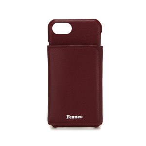 LEATHER iPHONE 7/8 TRIPLE POCKET CASE - WINE