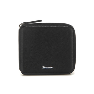 [12/23 예약배송]SOFT ZIPPER WALLET - BLACK