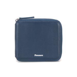 [12/23 예약배송]SOFT ZIPPER WALLET - DUSTY BLUE