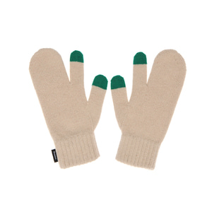 KNIT TIMI GLOVES - BEIGE