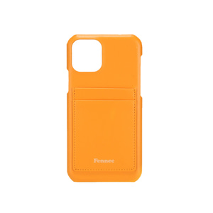 [12/27 예약배송]LEATHER iPHONE 11 PRO CARD CASE - MANDARIN
