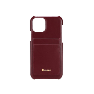 LEATHER iPHONE 11 PRO CARD CASE - WINE