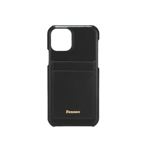 [12/27 예약배송]LEATHER iPHONE 11 PRO CARD CASE - BLACK