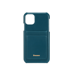 [12/27 예약배송]LEATHER iPHONE 11 CARD CASE - SEAGREEN