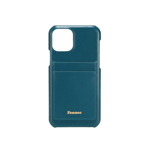 [12/27 예약배송]LEATHER iPHONE 11 PRO CARD CASE - SEAGREEN