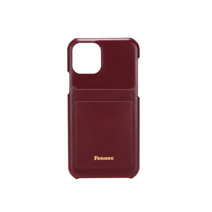 [12/27 예약배송]LEATHER iPHONE 11 CARD CASE - WINE