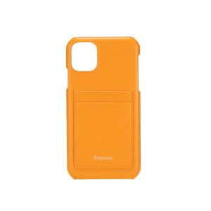 [12/27 예약배송]LEATHER iPHONE 11 CARD CASE - MANDARIN